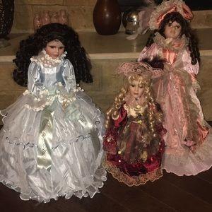 Antique Porcelain Set if Dolls
